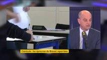 """#Canicule : annuler le brevet des collèges """"aurait été une mauvaise chose"""" affirme Jean-Michel Blanquer"""