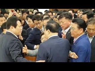 문희상 국회의장의 임이자의원 신체접촉 논란 영상