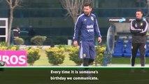 Coutinho sent Messi birthday message