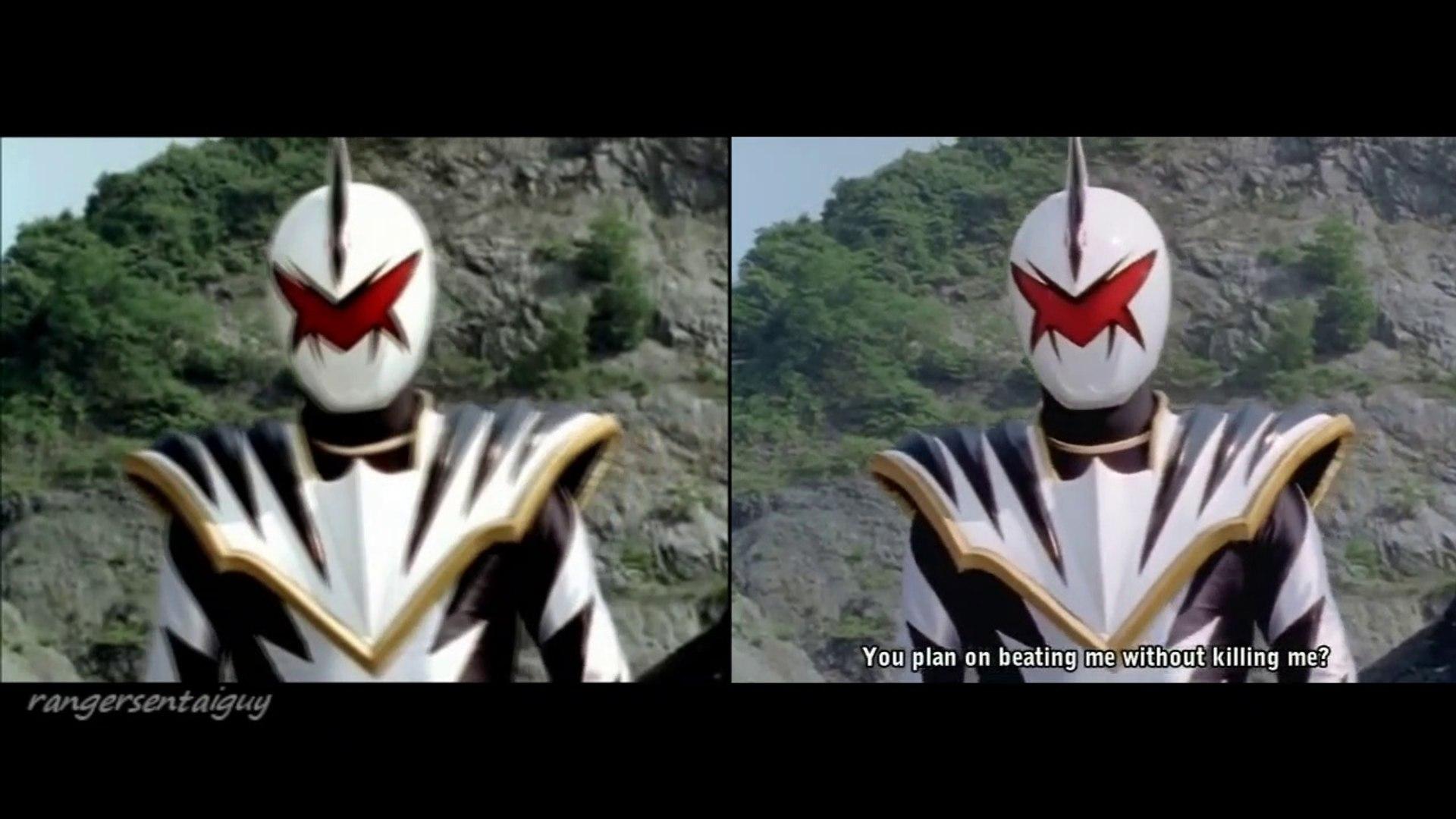 Power Rangers Dino Thunder Red Ranger Vs White Ranger Split Screen