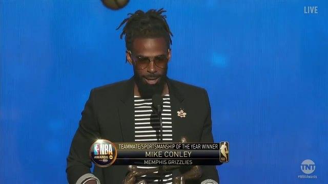 Mike Conley Wins Teammate of the Year Award - 2019 NBA Awards