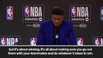 (Subtitled) Giannis Antetokounmpo wins MVP at NBA awards