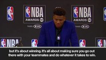 (Subtitled) Giannis Antetokounmpo wins MVP at NBA awards