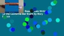 Popular to Favorit  Essay Exam Writing for the California Bar Exam by Mary Basick