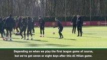 Solskjaer to test United's starting eleven against AC Milan