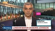 London Mayor Khan on Brexit, Boris Johnson, Donald Trump