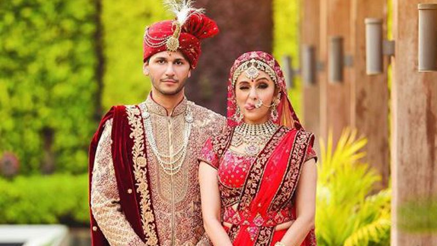 Aarti Chabria looks beautiful in her marriage with Visharad Beedassy; Photo goes viral   Boldsky