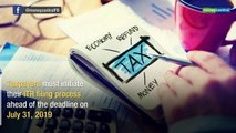 Keep your date with filing income tax returns