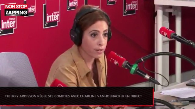 Thierry Ardisson règle ses comptes avec Charline Vanhoenacker en direct (Vidéo)