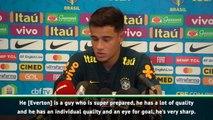 Coutinho hails Brazil duo Everton and Arthur