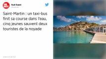 À Saint-Martin, un taxi-bus tombe à l'eau : cinq jeunes sauvent deux touristes de la noyade