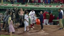 Marco Hernandez Gets Gatorade Shower After Walk-Off Single