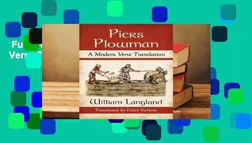 Full E-book  Piers Plowman: A Modern Verse Translation  Review