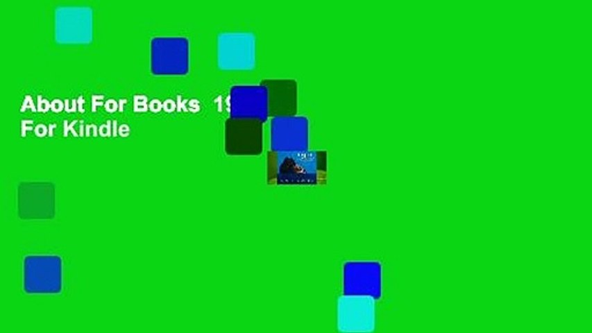 About For Books  1919  For Kindle