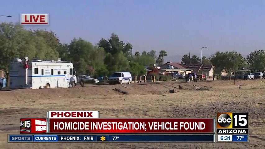 Vehicle found after shooting death in Phoenix