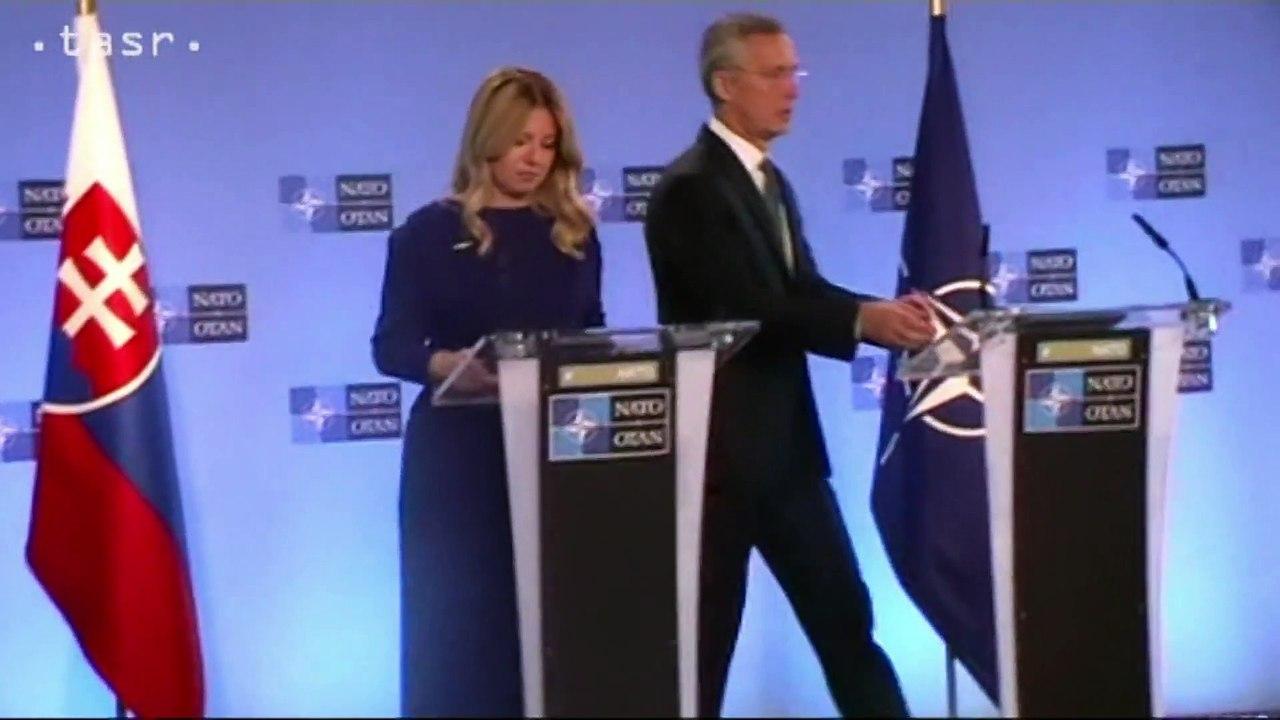 Zuzana Čaputová na svojej prvej návšteve v sídle NATO