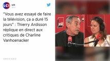 Thierry Ardisson répond à Charline Vanhoenacker: «Je vous ai connue beaucoup plus drôle»