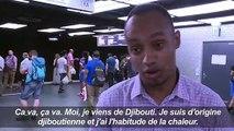 Canicule: chaleur étouffante dans les transports parisiens