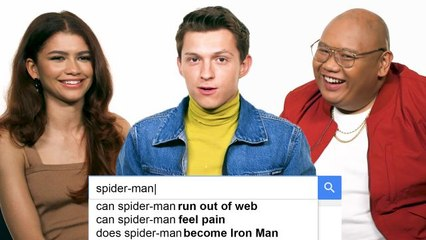 Tom Holland, Zendaya & Jacob Batalon Answer the Web's Most Searched Questions