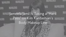 "Jameela Jamil Is Taking a ""Hard Pass"" on Kim Kardashian's Body Makeup Line"