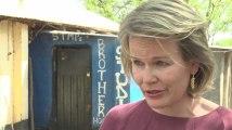 La reine Mathilde et la princesse Elisabeth visitent des camps de réfugiés au Kenya