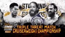 WWE Stomping Grounds 2019: Tony Nese vs. Akira Tozawa vs. Drew Gulak – Triple Amenaza por el Campeonato Crucero | Español Latino HD