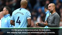 It's like skipping high school to go to university - Kompany on Guardiola influence