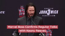 Marvel Boss Confirms Regular Talks With Keanu Reeves