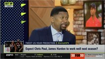 GET UP l Jalen Rose BELIVES Chris Paul - Jame Harden will work well together in next season