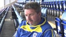 Warrington's Steve Price pre St Helens