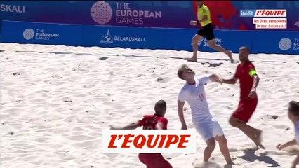 Le superbe ciseau retourné de Glenn Hodel en vidéo - Foot - Beach soccer - Jeux Européens