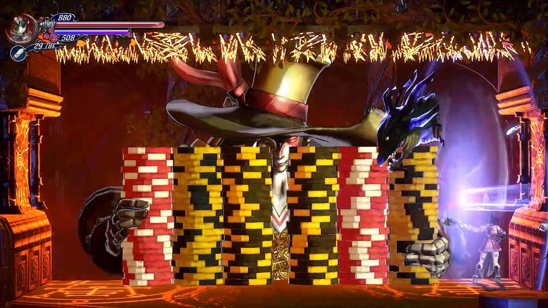 Bloodstained ROTN,Gameplay Español 15, Valefar el demonio del dinero para llegar a la zona de hielo