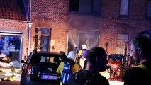 Incendie place du Cabaret Wallon à Tournai