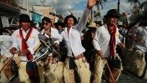 Los Hijos del Sol zapatean con ira en Cotacachi para que la tierra despierte