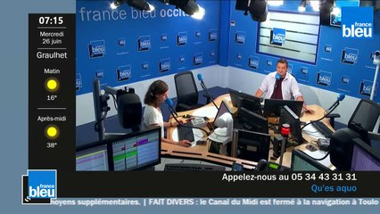 France Bleu Occitanie matin du mercredi 26 juin 2019