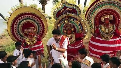 Mammookka's Dance with Kids at Madhuraraja Location | Madhura Raja | Vysakh