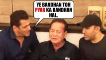 Salman Khan's EMOTIONAL Moment SINGING for Dad Salim Khan with Family At House Galaxy