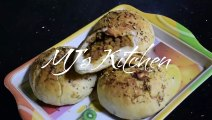 Spicy Mince filled Buns - baked in Oven & without oven