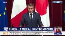 """Emmanuel Macron sur l'affaire Ghosn: """"Ce n'est pas au Président français de s'immiscer"""" dans la justice japonaise"""