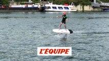 On a testé le foil électrique sur la Seine - Adrénaline - Surf