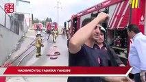 Hadımköy'de fabrikada yangın