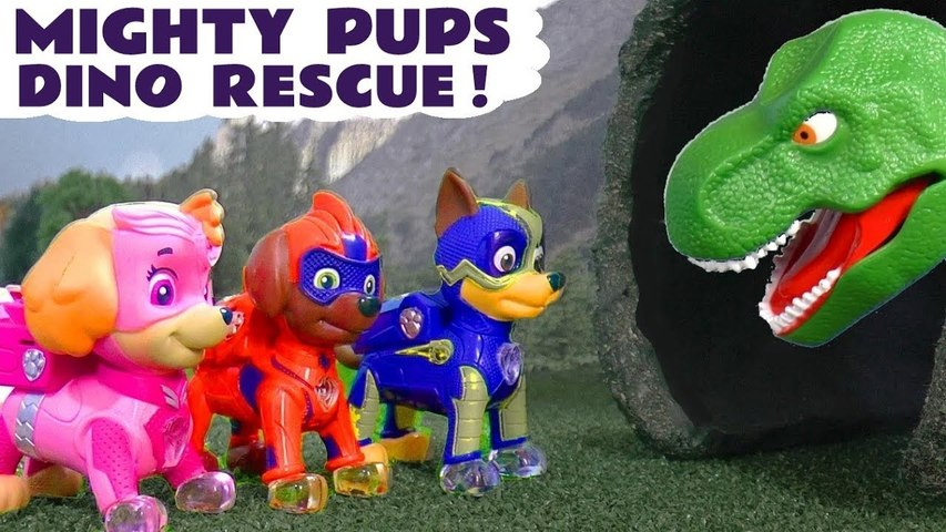 Paw Patrol Mighty Pups Dinosaur Rescue using Superpowers with DC Comics The Joker and Thomas and Friends in this Family Friendly Full Episode