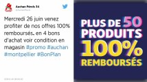 Soldes : Chez Auchan, des produits remboursés à 100% sous forme de bons d'achat, ruée dans les magasins