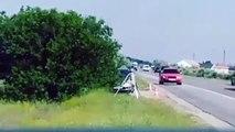 Un conducteur neutralise un radar automatique en utilisant un extincteur !