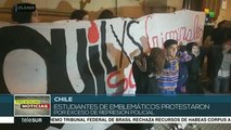 Estudiantes chilenos denuncian excesiva represión policial