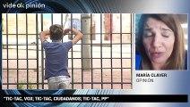 """VideOkpinión María Claver: """"Tic-Tac, Vox; Tic-Tac, Ciudadanos; Tic-Tac, PP"""""""