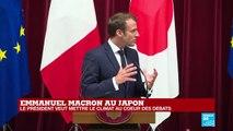 Emmanuel Macron au Japon pour consolider le partenariat de la zone Indo-Pacifique