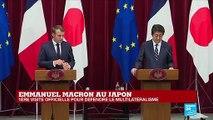 REPLAY - Les questions adressées à Emmanuel Macron et Shinzo Abe