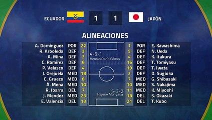 Resumen partido entre Ecuador y Japón Jornada 3 Copa América
