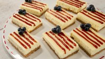 How to Make American Flag Cheesecake Bars